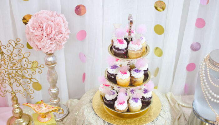 Deluxe princess-themed party at Tiny Town